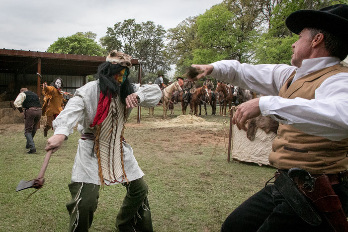Cowboy and Indian Battle