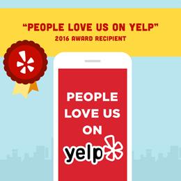 2016 Yelp Award Winner