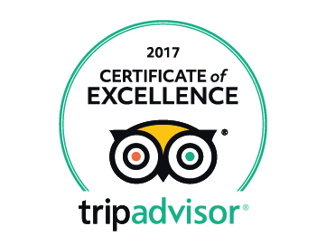Trip Advisor 2016 Certificate of Excellence